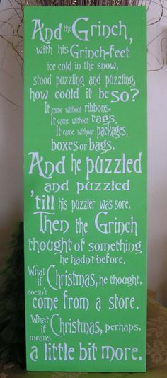 Grinch Fun Expressive Word Canvas by everlastingdoodle on Etsy, $48.00