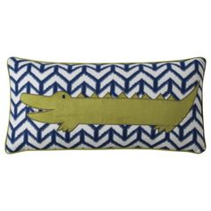 """this is probably intended for a kids bedroom but i like it... Mudhut™ Xavier Alligator Pillow - 12x24"""""""