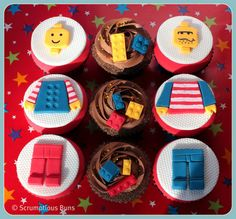 Lego cupcakes for boys party