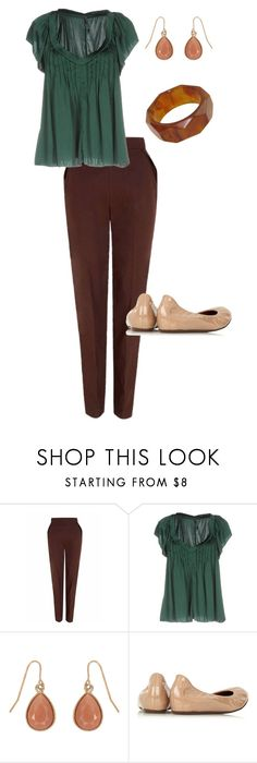 """""""Work Outfit #57"""" by cathy-ricker on Polyvore featuring The 2nd Skin Co., Manila Grace, Accessorize and Lanvin"""