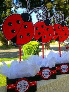 Resultado de imagen para ladybug centerpiece