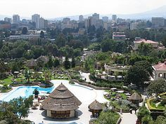 View of the capital Addis Ababa from the Sheraton Hotel.