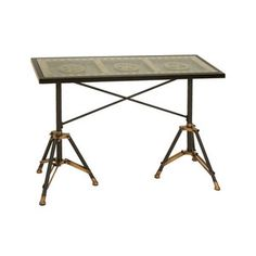 Woodland Imports Movie Reel Console Table 265.33