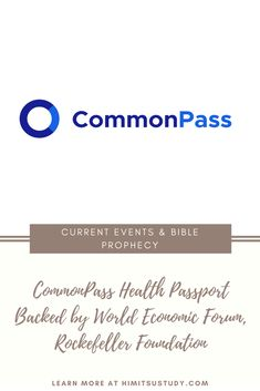 """""""CommonPass"""" by the The Commons Project is another health passport. Interestingly, the World Economic Forum is included in this initiative. Earlier in the year they also called for a """"Great Reset"""". The Rockefeller Foundation which is also a """"Founding Partner"""" of the ID2020 alliance supports them. It seems to me that the goals of ID2020, WEF's """"Great Reset"""", and the Rockefeller Foundation may be coming together, with CommonPass as one of the tangible results of this union."""