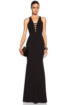 Mason by Michelle Mason Bar Strap Polyamide-Blend Gown in Black | FWRD [1]