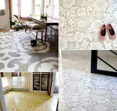 stenciled floors //