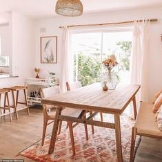 An Old House into Our New Home – The Blitz Reno Ein altes Haus in unser neues Zuhause – The Blitz Reno – Down The Rabbit Hole Wines Style At Home, Dining Chairs, Dining Table, Curtains In Dining Room, Lounge Chairs, Room Chairs, Sweet Home, Style Deco, Decoration Inspiration