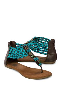 Teal sandals!!!  A must have for summer