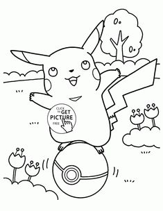 Pikachu Pokemon Coloring Pages For Kids Characters Printables Free