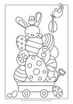 Easter Craft Ideas – Colouring Page – I always loved coloring Easter Eggs (in coloring books). 😀 Make your world more colorful with free printable coloring pages from italks. Our free coloring pages for adults and kids. Easter Bunny Colouring, Bunny Coloring Pages, Colouring Pages, Coloring Books, Free Coloring, Easter Coloring Sheets, Colouring Sheets, Kids Coloring, Easter Art