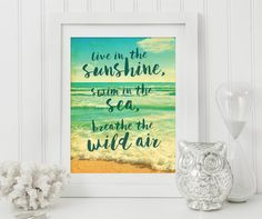 Beach Decor | Printable Art | Quote Art | Beach Print | Digital Art. MEMBER - Smudge Creative Design