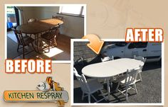 Table and chairs to skiming stone | by allsurfacerespray