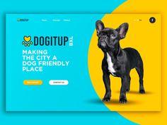 DogItUp BXL -Making the city a dog friendly place! Web Layout, Layout Design, Pet Branding, Website Color Schemes, Webdesign Inspiration, Modelos 3d, Landing Page Design, Social Media Design, Pet Store