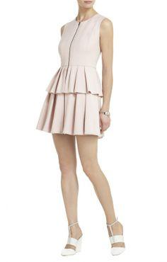 Audrey Sleeveless Pleated Peplum Dress