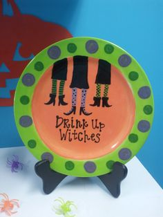 Hand Painted Halloween Plate