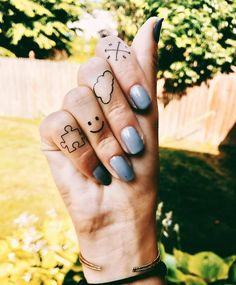 6f6570557 INKED by Dani Temporary Tattoos | Tiny Finger Tats #FingerTattoos  #SmallTattoos #MiniTattoos #