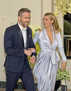 Earrings and ring. Blake Lively and Ryan Reynolds Are a Modern-Day Barbie and Ken at the White House