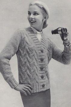 1950s fashion knits.