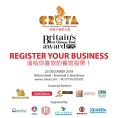 You can register your business with Chinese Restaurant & Takeaway Awards for participation and get a chance to become 'Champion of Champions'. Best Chinese Food, 15 December, Chinese Restaurant, Britain, Awards, How To Apply, Business, Chinese Food Restaurant
