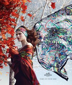 Bette Franke for the Hermès fall/winter 2012-2013 ad campaign. Shot by Nathaniel Goldberg.