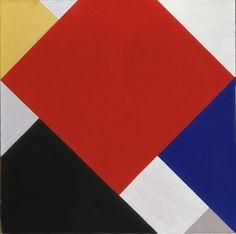 Contra-compositie V - 1924, 100x100cm, Theo van Doesburg, Stedelijk Museum Amsterdam