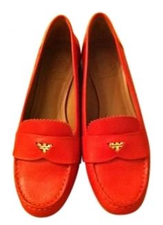 989bd3619e6 Red Leather Pennie Loafer Style No Flats