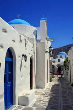 Streets of Parikia, Paros, Greece