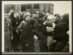 AUSCHWITZ. The Jews arrive. Families separated. Most all will be gassed within hours. Over 6000 people a day are gassed at Auschwitz. A Nazi SS is taking these pictures. Capturing with his own glee the people and faces of those he knows will be gassed in the hour. With a cold heart and evil, he focuses the f-stop of his camera. What kind of monster did these men become.