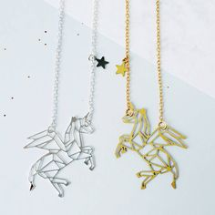 Eclectic Eccentricity Unicorn Constellation Necklace ($21) ❤ liked on Polyvore featuring jewelry, necklaces, eclectic eccentricity, mini necklace, unicorn necklace and unicorn jewelry