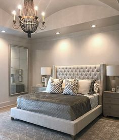 Home Interior 2019 Take a look at some contemporary bedroom design inspirations! Interior 2019 Take a look at some contemporary bedroom design inspir Simple Bedroom Design, Master Bedroom Design, Dream Bedroom, Home Bedroom, Master Suite, Bedroom Designs, Bedroom Mirrors, Fancy Bedroom, Beds Master Bedroom