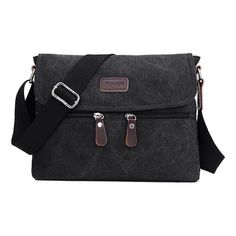 Men Retro trend canvas Shoulder Messenger Bag