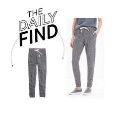 """Daily Find: Madewell Sweater Pants"" by polyvore-editorial ❤ liked on Polyvore featuring Madewell and DailyFind"