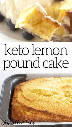 Keto Lemon Pound Cake is the delicious moist dessert you have been waiting for. Zesty lemon is the star in the cake as well as in the decadent lemon glaze. Desserts For A Crowd, Sugar Free Desserts, Low Carb Desserts, Delicious Desserts, Dessert Recipes, Easy No Bake Desserts, Healthy Desserts, Healthy Eats, Yummy Food