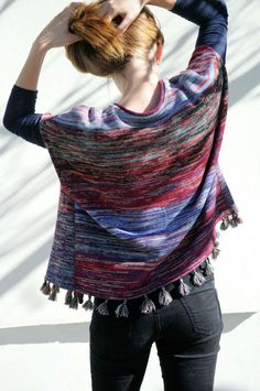 Bohemian knitted vest colored waistcoat Spring poncho by Milltwill