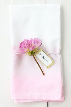 DIY: Watercolor Cloth Napkins