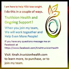 I have created this website for you to use as a resource so you can see the benefit of Truvision Health in regaining your health and your figure. Here are some of the pages that are worth looking a...