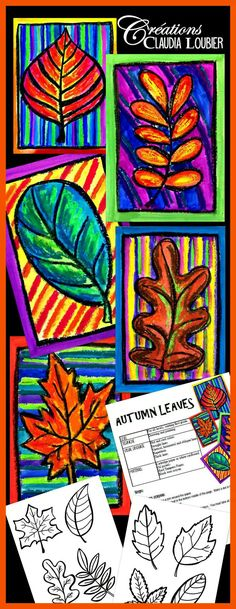 fall art projects for kids Autumn Art Activity and Lesson Plan for Kids: Autumn Leaves - ArtEd- Leaves - Fall Art Projects, School Art Projects, Art Projects For Adults, Toddler Art Projects, Thanksgiving Art Projects, Halloween Art Projects, Leaf Projects, Photo Projects, Art 2nd Grade