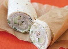 Tried this recipe and instead of Laughing Cow cheese spread I used cream cheese! Stir cucumber into laughing cow cheese spread on tortillas, layer with turkey slices and roll up.perfect lunch from Rachel Ray Think Food, I Love Food, Food For Thought, Good Food, Yummy Food, Tasty, Fun Food, Cow Cheese, Cheese Turkey