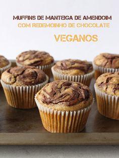 muffins veganos de manteiga de amendoim e chocolate