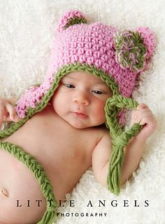 bd1aabe5947 Bright Colors Bear Hat pattern by Bonnie Potter