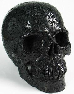 "Giant 7.2"" Hot Lava Stone Carved Crystal Skull, Healing"