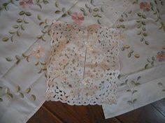 Valance curtain 1 pr plus tissue box cutwork by HeartsomeHalos, $25.00