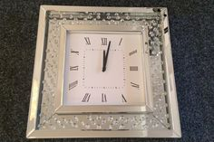 Hodiny ZEGAR CRYSTAL Square Watch, Clock, Wall, Accessories, Decor, Watch, Decoration, Clocks, Walls