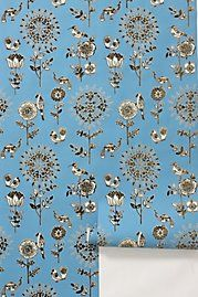 Flora and fauna wallpaper from Anthropologie