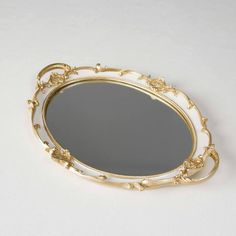 Cake Tray, Internal Design, Mirror Tray, Serving Trays, Romantic, Bedroom, Antiques, Gold, Jewelry