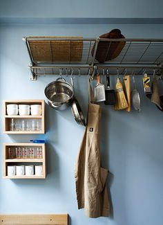 Homes - Narrow house: Luggage rack in the kitchen of Kahn and Kohashi's narrow house
