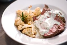 Roast Lamb With Yogurt Mint Sauce - Recipe Included.