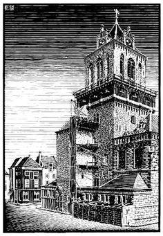 M.C. Escher – Town Hall, Delft