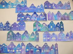 Winter Art Projects, Festivus, Cityscapes, Art School, Art For Kids, Christmas, Crafts, Art Education Resources, School