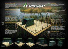 Duck Blinds California - Floating Duck Builds California - X Fowler Duck Hunting Blinds, Duck Hunting Boat, Hunting Cabin, Deer Hunting, Hunting Stuff, Duck Boat Blind, Duck Season, Steel Cage, Waterfowl Hunting